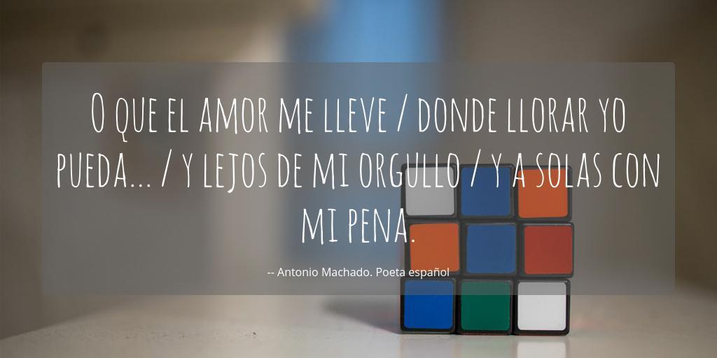 O Que El Amor Me Lleve Donde Llorar Yo Pueda Y Lejos De
