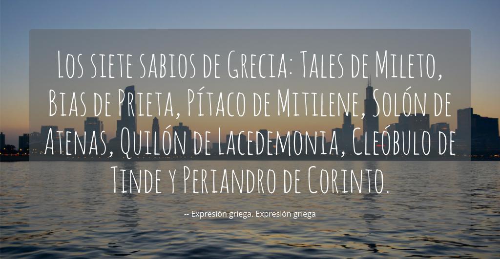 Los Siete Sabios De Grecia Tales De Mileto Bias De Prieta